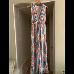 Pink Blush size medium sleeveless front knot dress